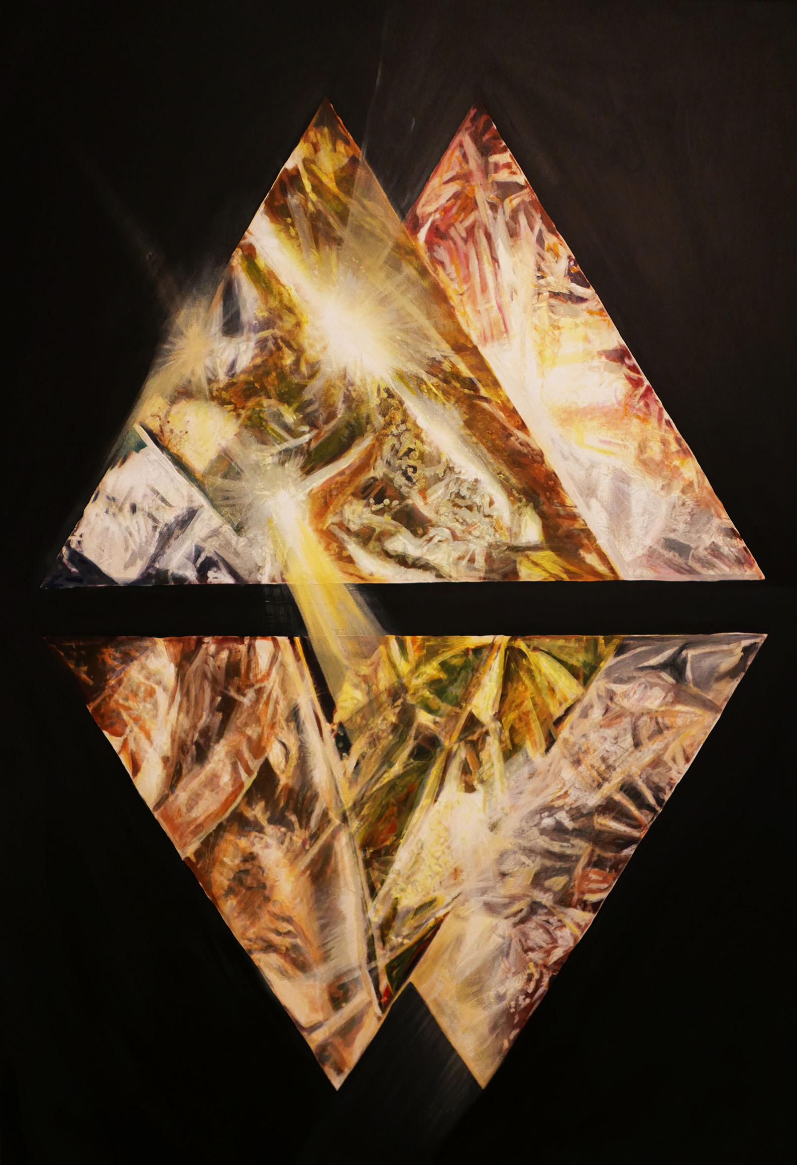 Esa's speed, 90/ 65 cm, acrylic, oil on canvas, 2018