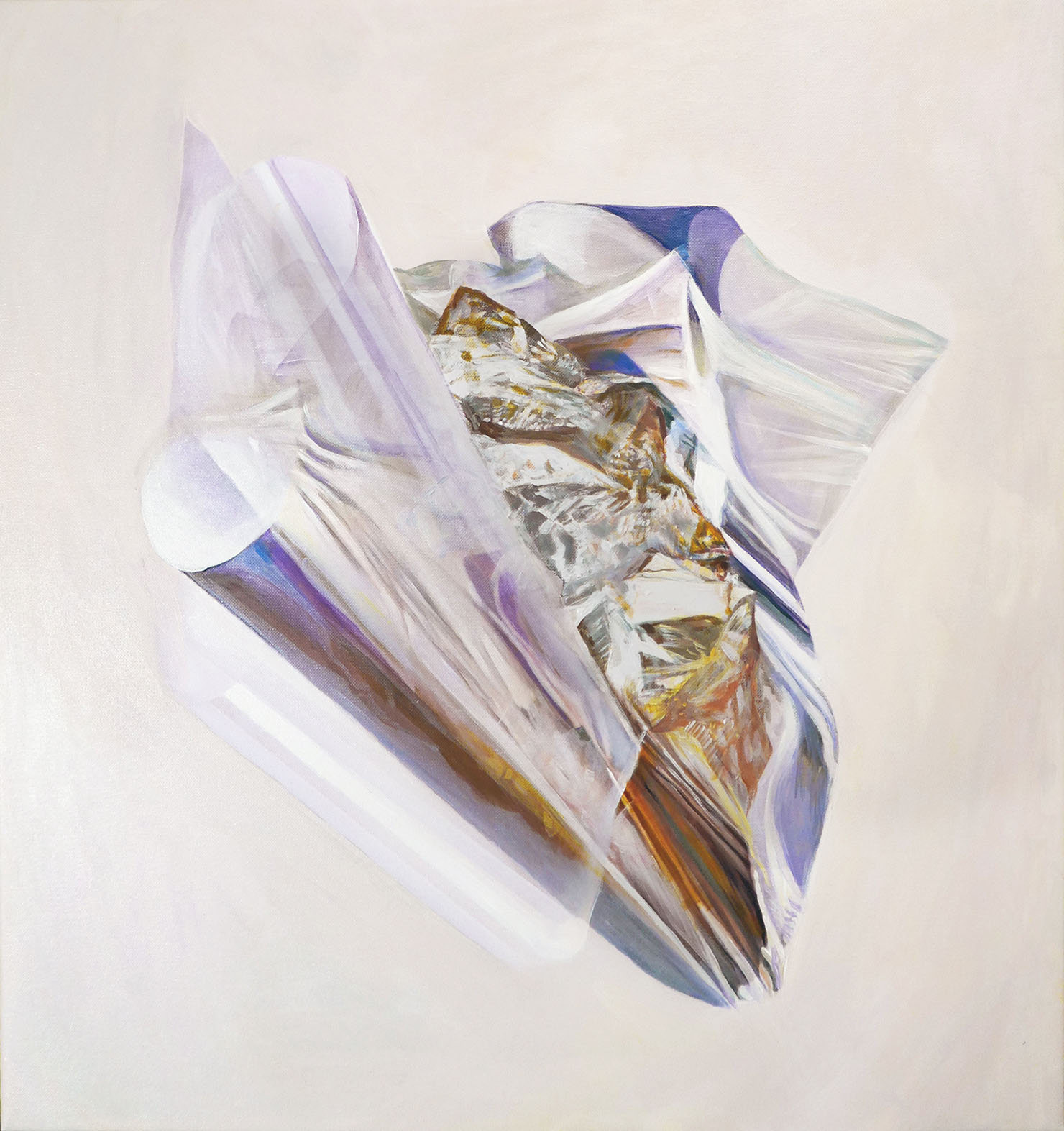 Sustain shape V, 71/ 67 cm, acrylic, oil on canvas, 2018
