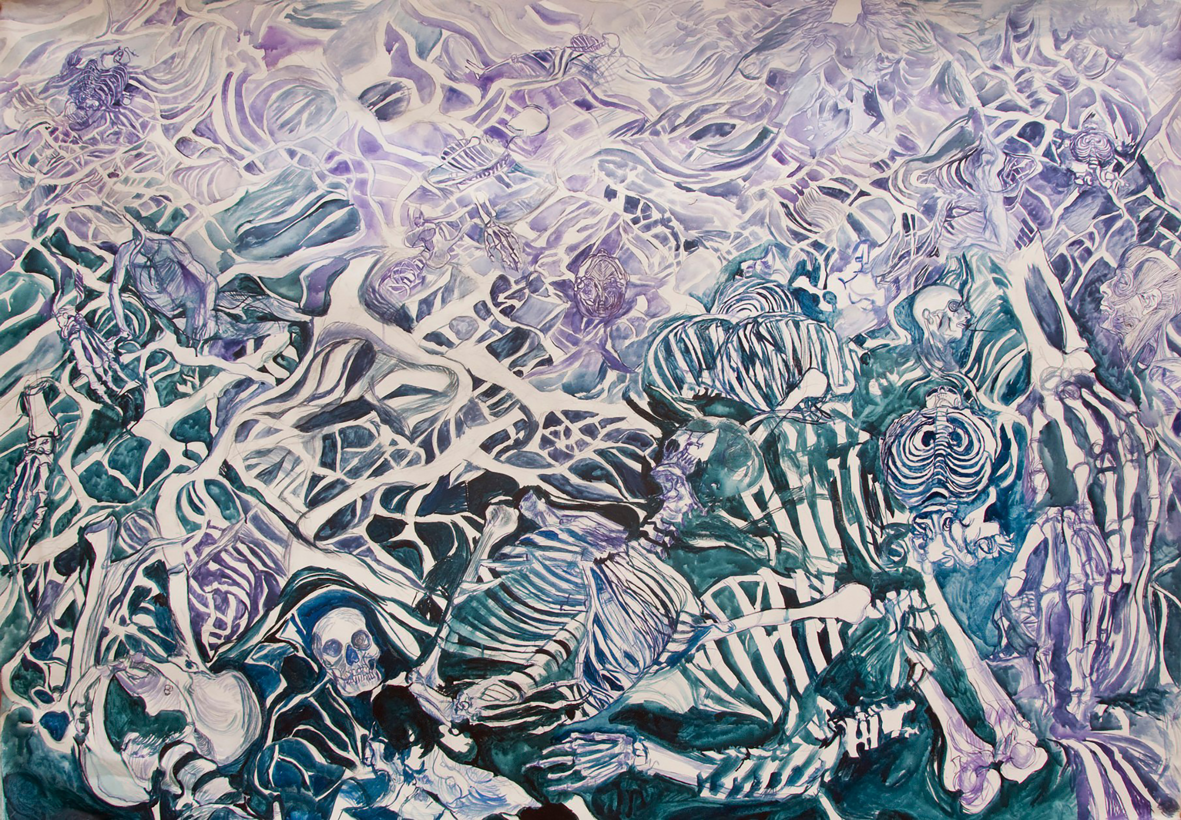 Homofemia 5, 210/160 cm, linen, distemper, 2010
